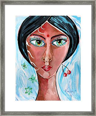 Timeless Dreamer - Woman Face Art By Valentina Miletic Framed Print by Valentina Miletic