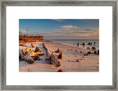 Timeless Florida Beach Framed Print by Rich Leighton