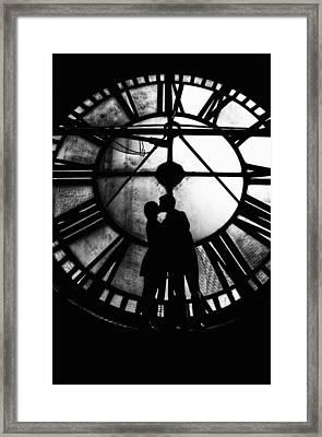 Timeless Love - Black And White Framed Print