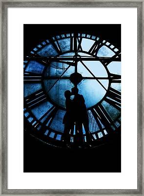 Timeless Love - Midnight Blue Framed Print by Marianna Mills
