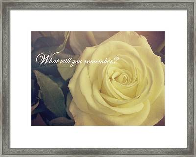 Timeless Quote Framed Print by JAMART Photography