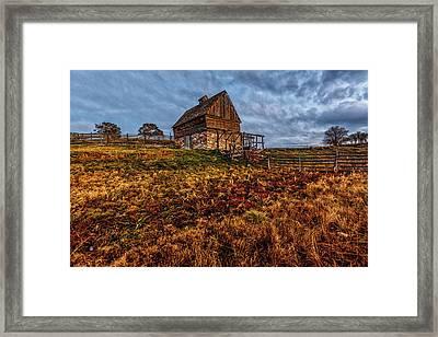 Timeless Rustic Barn  Framed Print