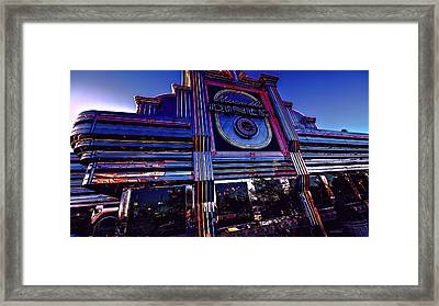 Timeless Tradition In Neon Lights Framed Print by Dennis Baswell