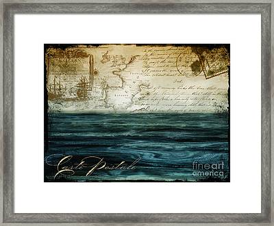Timeless Voyage II Framed Print by Mindy Sommers