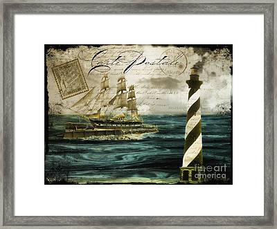 Timeless Voyage Framed Print by Mindy Sommers