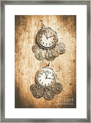 Timepieces From Bygone Fashion Framed Print