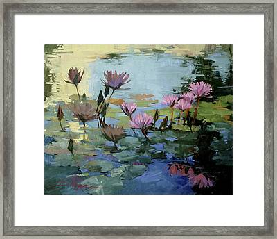 Times Between - Water Lilies Framed Print