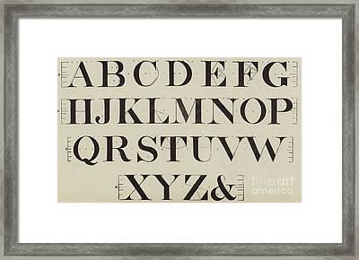 Times New Roman Framed Print