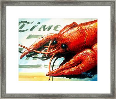 Times Picayune Crawfish Framed Print by Terry J Marks Sr