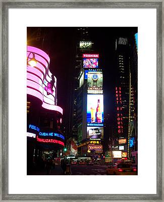 Times Square 1 Framed Print by Anita Burgermeister
