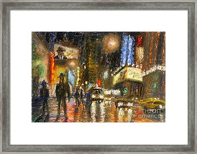 Times Square 2 Framed Print by Arthur Robins