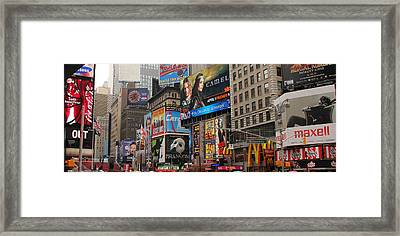 Times Square 4 Framed Print by Andrew Fare