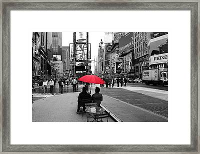 Times Square 5 Framed Print by Andrew Fare