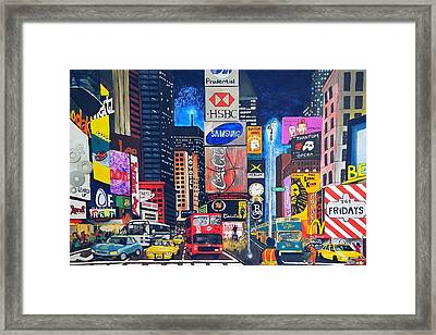 Times Square Framed Print by Autumn Leaves Art