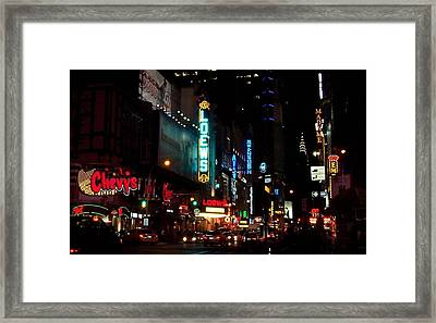 Times Square Framed Print by Bruce Lennon