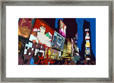 Times Square Framed Print by Christopher Woods