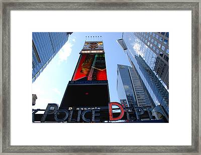 Times Square Cops Framed Print by Rob Hans