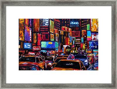 Times Square Framed Print by Debra Hurd