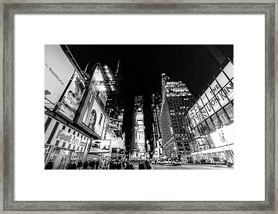 Times Square Don't Shine As Bright As You Framed Print by Ariane Moshayedi