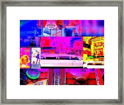 Times Square Frenzy Framed Print by Funkpix Photo Hunter