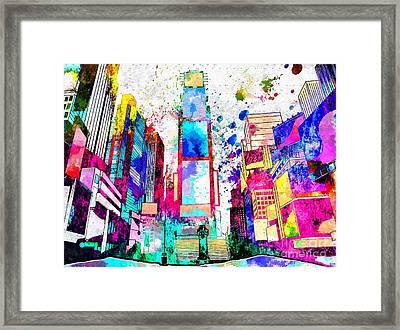 Times Square Grunge Framed Print