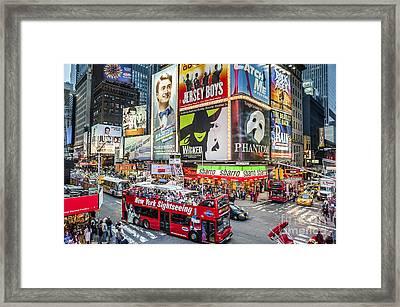 Times Square II Framed Print