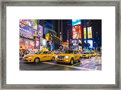 Times Square Framed Print by Kobby Dagan