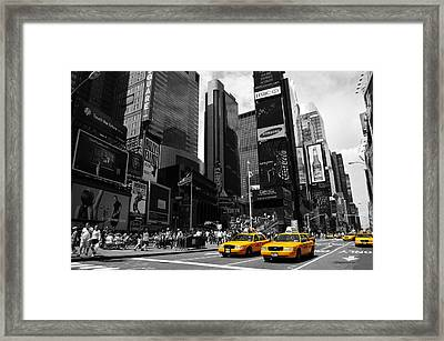 Times Square Framed Print by Mandy Wiltse
