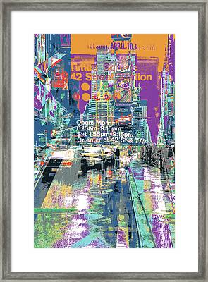 Times Square Morphine Framed Print by Shay Culligan