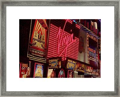 Times Square Night Framed Print by Debbi Granruth