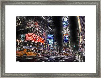 Times Square Night Framed Print by Joachim G Pinkawa