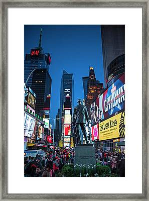 Times Square Ny Overlooking The Square Framed Print