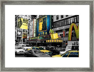 Times Square Nyc Framed Print by Guy Harnett