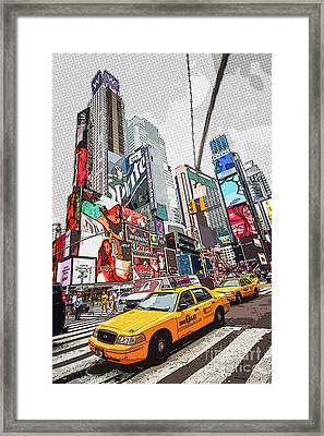Times Square Pop Art Framed Print
