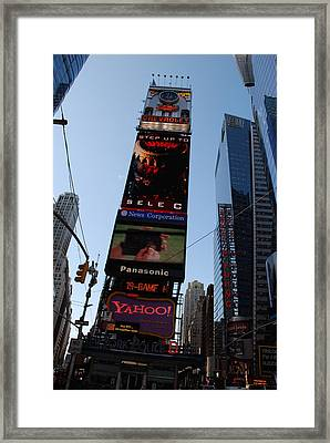 Times Square Framed Print by Rob Hans