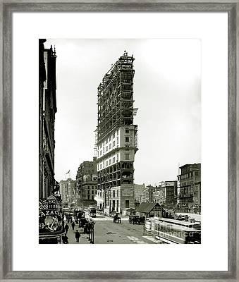 Times Square Under Construction Framed Print by Jon Neidert
