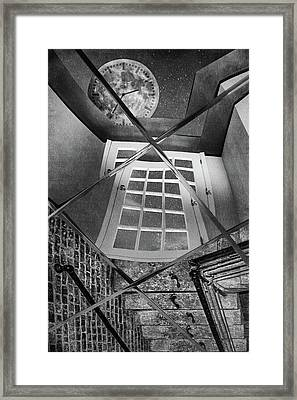 Time's Up - Black And White Framed Print by Nikolyn McDonald