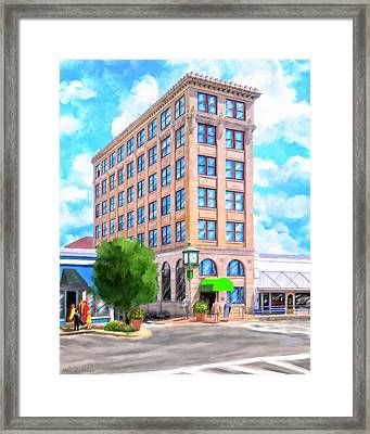 Framed Print featuring the mixed media Timmerman Building - Andalusia - First National Bank by Mark Tisdale