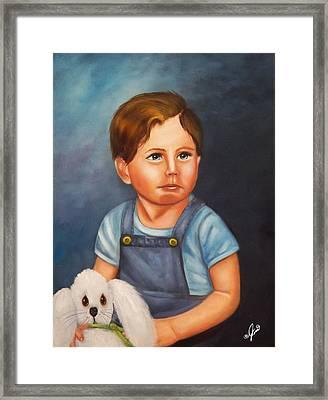 Timmy And Fluffy Framed Print by Joni McPherson