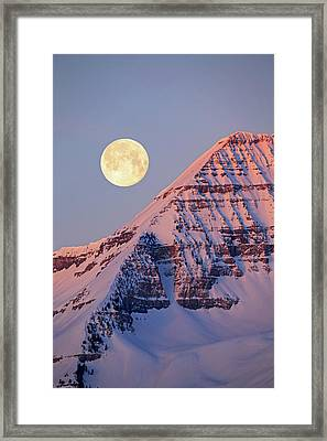 Framed Print featuring the photograph Timp Full Moon Composite by Johnny Adolphson