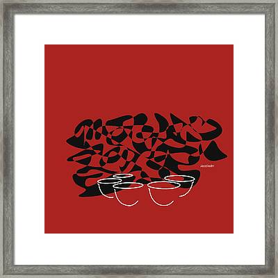 Timpani In Orange Red Framed Print