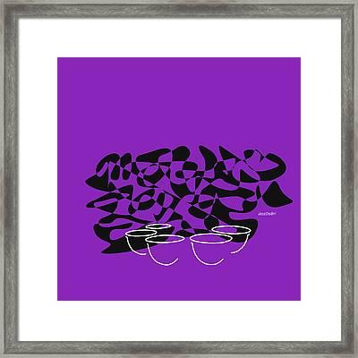 Timpani In Purple Framed Print by David Bridburg