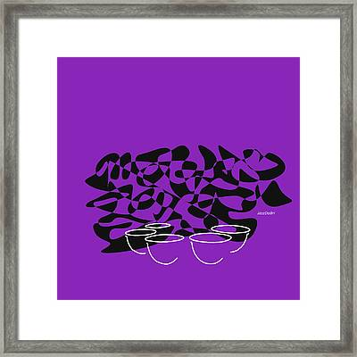 Timpani In Purple Framed Print