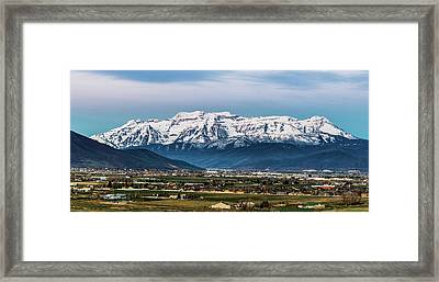 Timpanogos And The Heber Valley 2 Framed Print by TL Mair