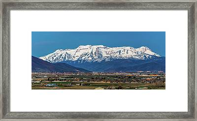 Timpanogos And The Heber Valley Framed Print by TL Mair