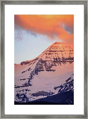 Timpanogos East Ridge Framed Print