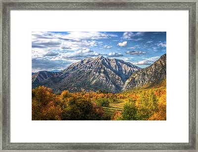 Timpanogos From Cascade Meadows Framed Print
