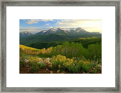 Timpanogos From Mill Canyon Peak. Framed Print by Johnny Adolphson
