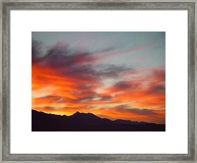 Timponogos Sunrise Framed Print