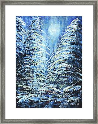 Tim's Winter Forest Framed Print